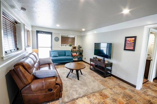 Livingroom at The Spring Street Hideaway in Downtown Tahlequah Oklahoma