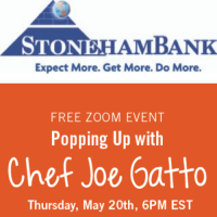 Virtual Cooking Class with Chef Joe Gotto Presented by StonehamBank