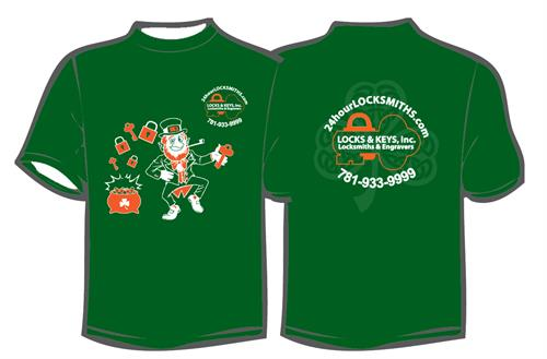 Our St. Patricks Day shirt!