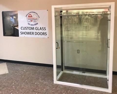 Custom Glass Shower doors and mirror too!