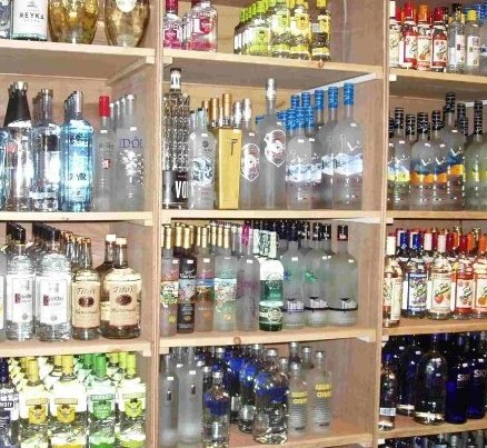 Vodka Shelves
