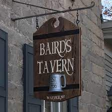 Baird's Tavern Sign - Carved Wood, HDU - Warwick, NY'