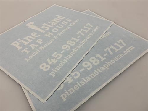 Cut Vinyl Graphic - Ready to Install - Warwick, NY