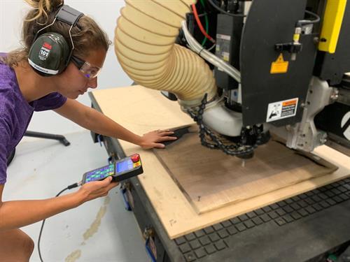Rebecca - Carving Wood on Multicam CNC - Warwick, NY