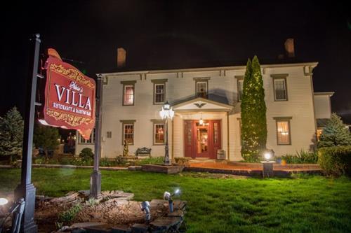 Silvio's Italian Villa SIgn - Carved HDU - Warwick, NY