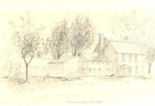 Baird's Tavern etching