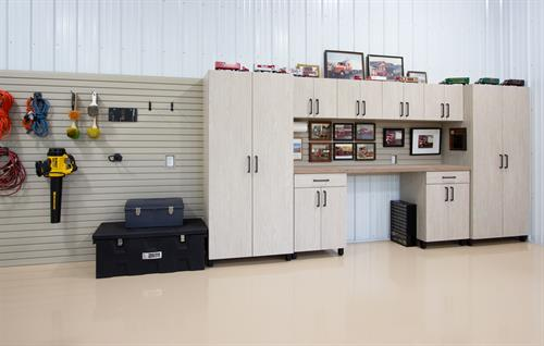 Garage Cabinetry with HandiWALL Organizer