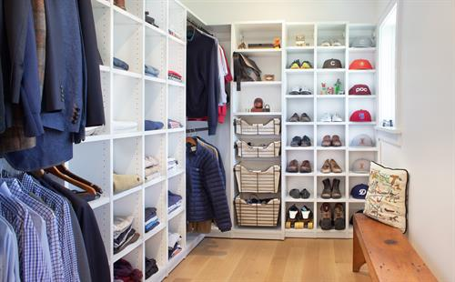 Good closet design meets the needs of the user.