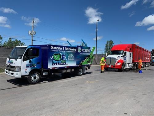 NeverBinCleaner washes Commercial Fleets