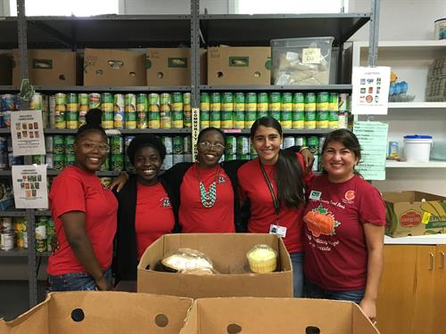 HOPE Group volunteering at the Hays County Food Bank
