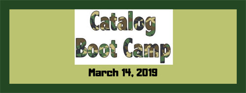 Catalog Boot Camp, March 14th in Nashua NH