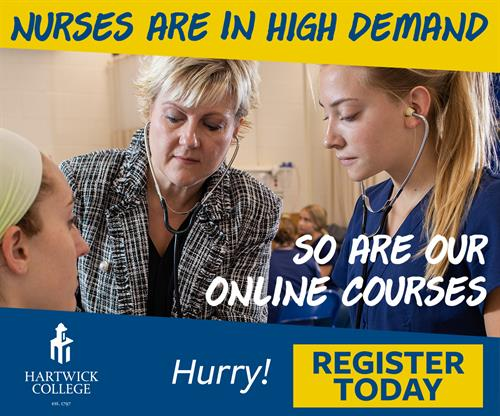 Wrote text for this digital ad and worked with graphic designer and digital agancy to attract more online students to take nursing courses.
