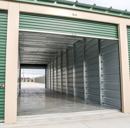 Double Door Pull-Through Storage Options Available