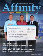Cover of Affinity Maagzine with Mark Morales