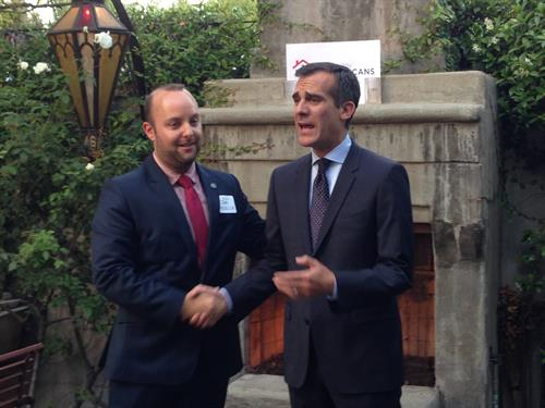 With LA Mayor Eric Garcetti