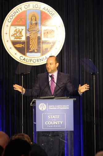 Speaking at the 10th Annual State of the County Luncheon