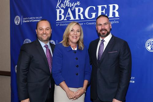 With LA County Supervisor, Kathryn Barger