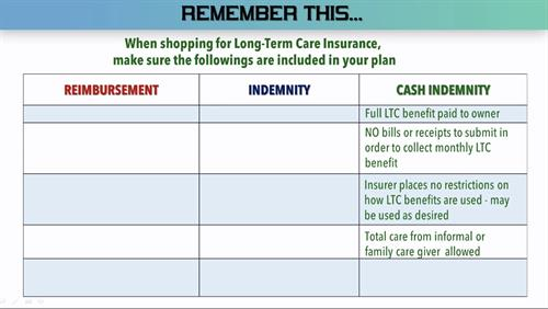 More information on long-term care insurance