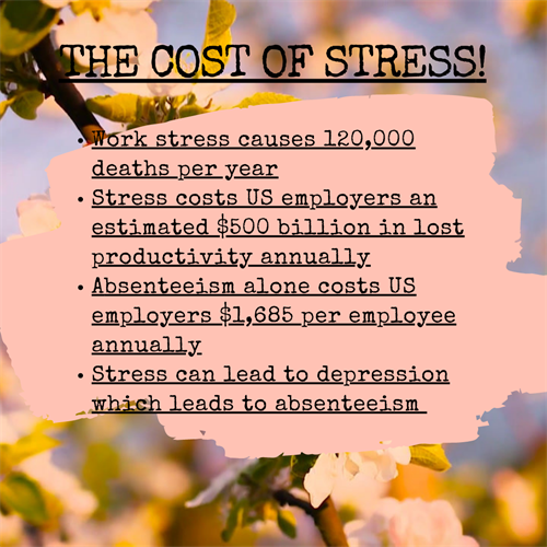 The cost of stress in the workplace