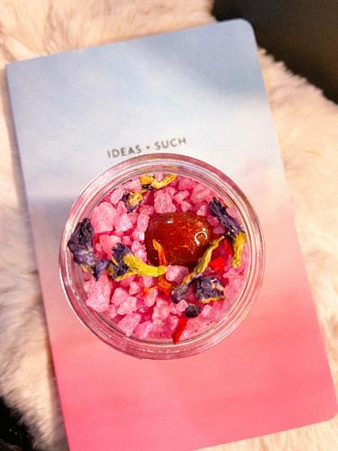Denik Journal & Nebula Bath Salt | Reiki and Crystal Infused