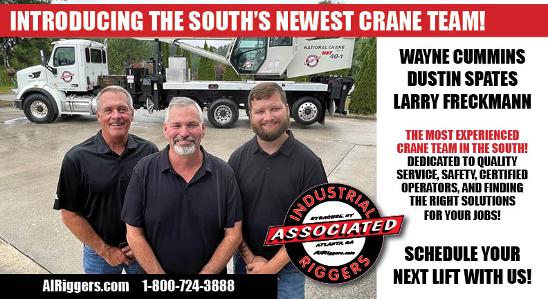 West Georgia Crane and Rigging Company Announces Historical Expansion in Response to Industrial Trends in the South
