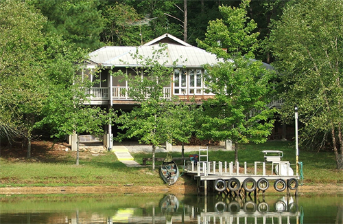 Our Holy Trinity House, a smaller, private retreat house on the lake, sleeps 24.