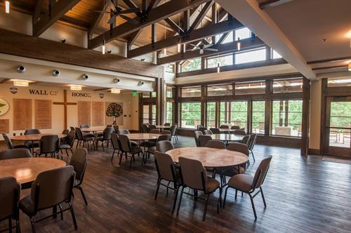 Our beautiful dining room in the retreat center