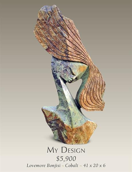 My Design Stone Sculpture by Lovemore Bonjisi