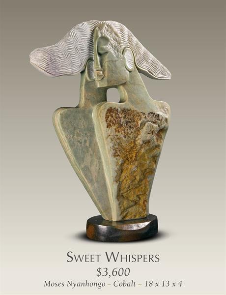 Sweet Whispers Stone Sculpture by Lovemore Bonjisi