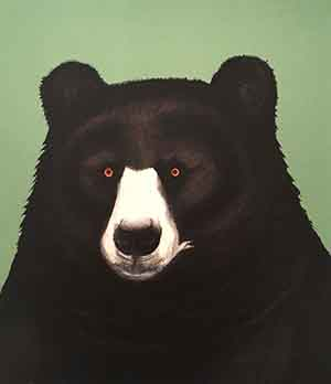 Black Bear Lithograph by Beth Van Hoesen