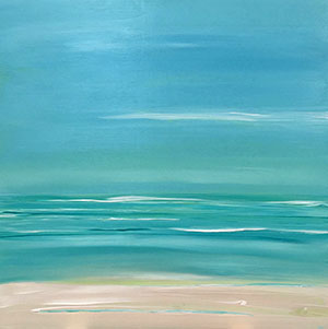 Ocean Memories #96 Acrylic by Laurie Winthers