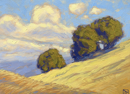 Angled Oaks Oil by Thomas Taneyhill