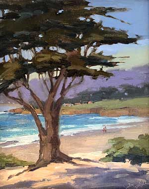 Sands of Carmel Oil by Cindy Wilbur