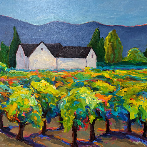Vineyard Dreams Oil by Leslie Toms