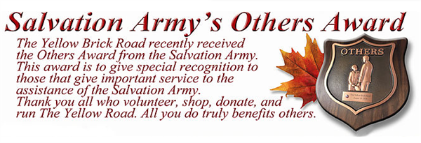 Yellow Brick Road is a proud regular supporter of The Salvation Army