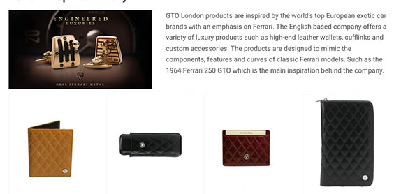 GTO London's Artist made products