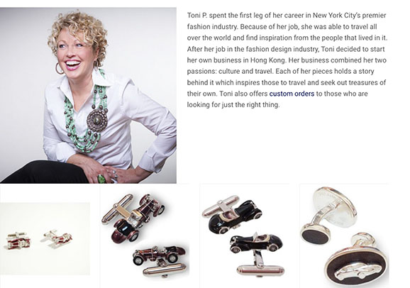 Artist Toni P.'s Sport Cufflinks and more!