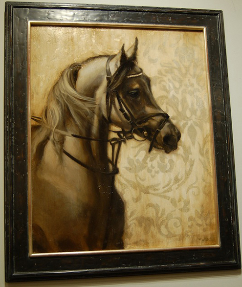 "Michael Wein's ""King's Horse"" original oil painting"