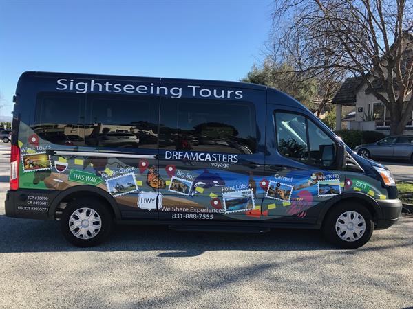 DreamCasters Voyage has 4 new comfortable 11-passenger vans.