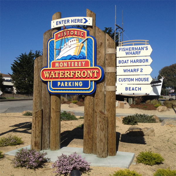 Sign at Entrance to Fisherman's Wharf, Monterey