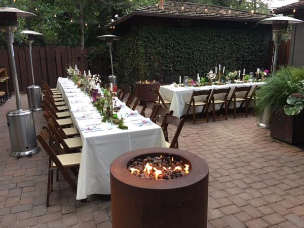 Wedding reception in our Back Patio