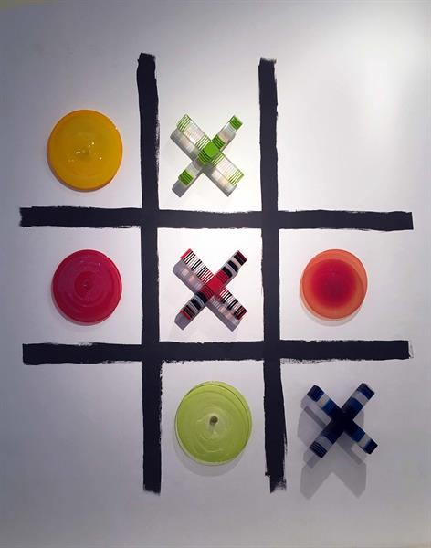 Tic Tac Toe 2014 Fused Glass