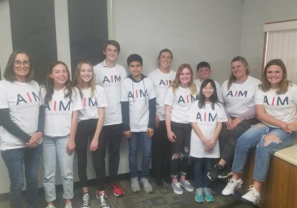 On-campus AIM Ambassadors from Buena Vista Middle School