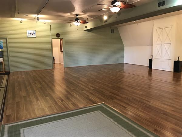 Studio practice space.  1200sq ft of laminate floor with radiant heat