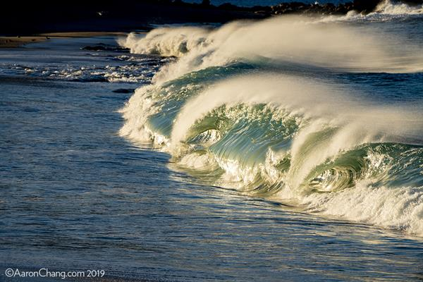 Golden Shorebreak at Carmel Beach