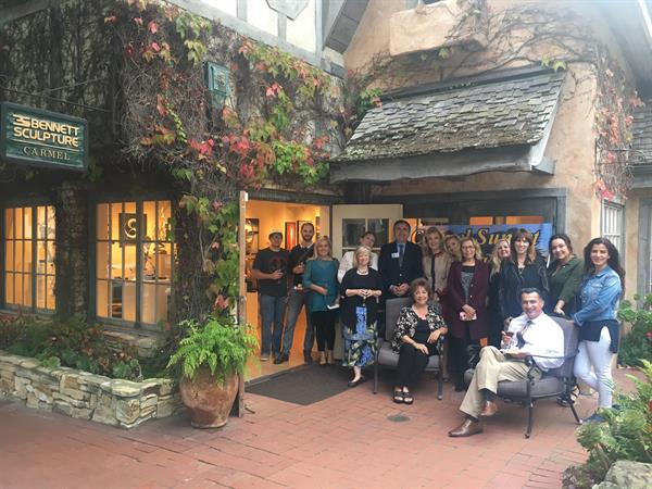 2017 with our initial group at The Bennett Gallery in downtown Carmel