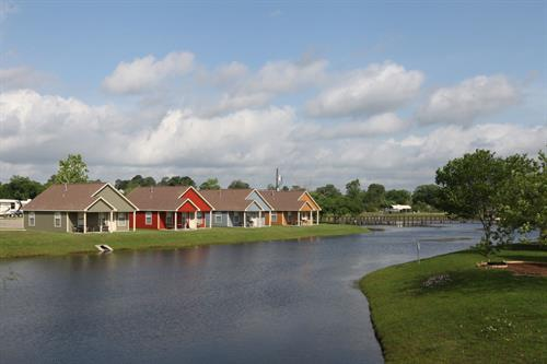 Waterfront cabins