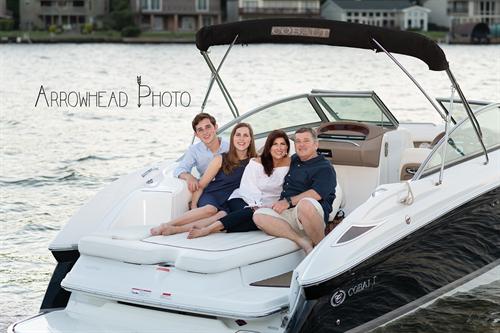 Family Portraits on Lake Conroe