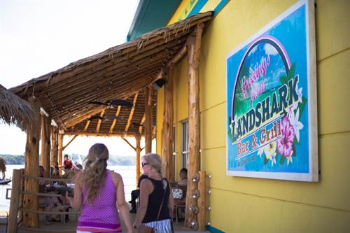 Landshark Bar and Grill open now! Live Music Thursday-Sunday!