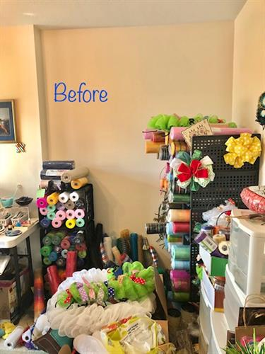 Before craft wall